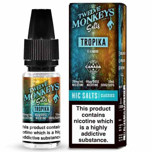Tropika Nic Salt by Twelve Monkeys Salts