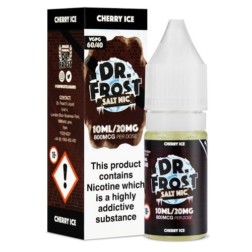 Cherry Ice 10ml Nic Salt by Dr Frost