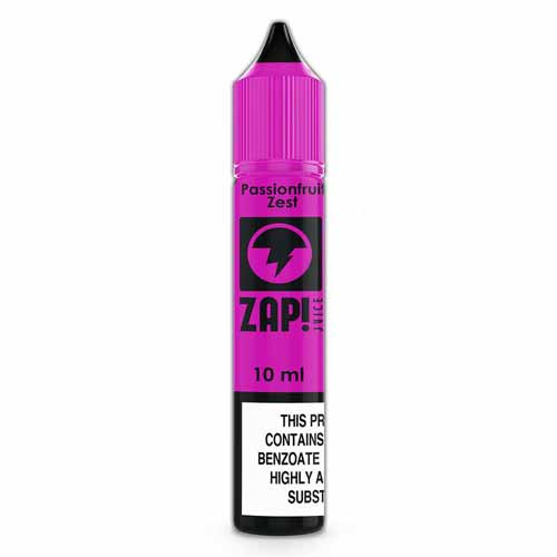 Passionfruit Zest 10ml Nicotine Salt E-Liquid by Zap! Juice