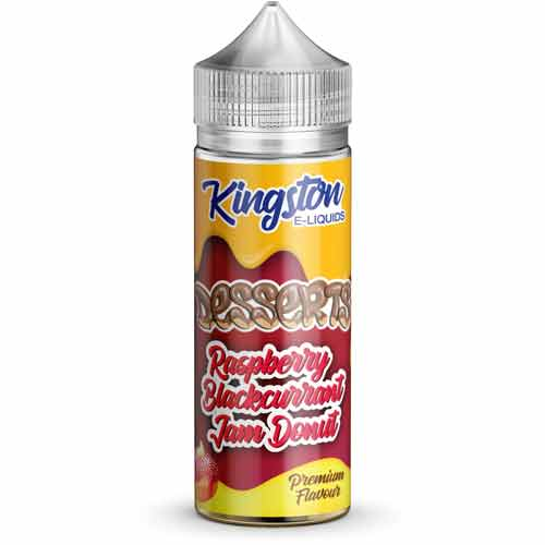 Raspberry Blackcurrant Jam Donut 100ml E-Liquid by Kingston
